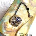 Steampunk   könyvjelző, Ezüst és bronz színű különleges könyvjelző...