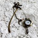 Boldog órák, azaz könyvjelző órával., Bronz alkatrészekből összeállított többfunkc...