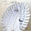 Szikrázó hógolyó  (nyaklánc + fülbevaló szett)), Ékszer, Ékszerszett, Ezüst színű nyaklánc aprócska swarovski gyöngyökkel, sokkrisályos elemmel, lucite kehellyel. Angyals..., Meska