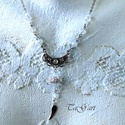 Szofi ...  nyaklánc (üde,friss,rózsaszín), Ezüst színű nyaklánc, aprócska swarovski gyö...