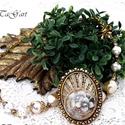 Aranyló álmok  nyaklánc, Különleges, füstös arany nyakék, gyöngyökke...