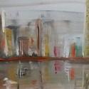 A part c. olajfestmény, Képzőművészet, Otthon, lakberendezés, Festmény, Olajfestmény, Festészet, Tisztelt Vásárló!  A part c. olajfestmény minimalista stílusban hivatott ábrázolni a modern nagyvár..., Meska