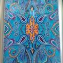 Mandala - kép, Dekoráció, Kép, Festett üveg mandala 33*43 cm., Meska