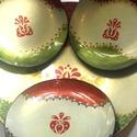 Magyaros tányér kicsi, Magyar motívumokkal, Otthon, lakberendezés, Dekoráció, Kaspó, virágtartó, váza, korsó, cserép, Kézzel festett üveg tányér. Kicsi (15cm) Vízálló, mindennapi használatra alkalmas, de áztatni, gőzöl..., Meska