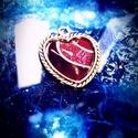 szív alakú üveg medál, Ékszer, Medál, Kézzel festett, 2,5 cm-es kőméret. Bármilyen színben és más formákban is rendelhető. Nem ko..., Meska