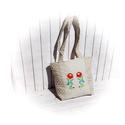 Kate- hímzett táska bézs, pöttyös, hímzett, kalocsai, Táska, Válltáska, oldaltáska, Laptoptáska, Hímzés, Varrás, Gépi hímzéssel díszített táska. Mérete: jó tágas, 35x32 puha, vatelinnel, bélelt négy rétegű, kérés..., Meska