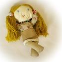 textilbaba textiljáték rongybaba kislány lány, Játék, Baba játék, Plüssállat, rongyjáték, kb 27 cm-es textilbaba, Meska
