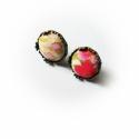 Cseresznyevirágzás fülbevaló, Ékszer, Esküvő, Fülbevaló, Esküvői ékszer, Bedugós fülbevaló 14 mm-es átmérővel. Nagyon szép Japán cseresznyevirágos textilt használt..., Meska