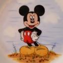 Minnie és Mickey, Baba-mama-gyerek, Konyhafelszerelés, Bögre, csésze, 3 részből álló bézs alapszínű kézzel formázott kerámia gyermek étkészlet,saját kézzel ..., Meska
