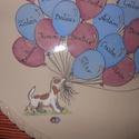 Lufis - kutyusos  emlék tál, Konyhafelszerelés, Dekoráció, Ballagás, Kerámia, Kézzel festett bézs alapszínű  magastűzű kerámia dísztál,ballagási emléknek. A tányér átmérője 24 c..., Meska