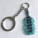 Swarovski kristály kulcstartó, Mindenmás, Kulcstartó, Swarovski kristály és japán gyöngyök felhasználásával készült kulcstartó.  Mérete: 6 cm ..., Meska