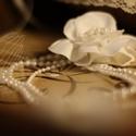 Gyöngyös hajékszer, Esküvő, Hajdísz, ruhadísz, Varrás, Ezt a pompás, egyedi hajékszert ajánlom minden Menyasszonynak, aki élvezi, ha kifinomult megjelenés..., Meska