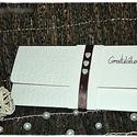 """""""Három szív"""" Pénzátadó lap/ Esküvői meghívó, Esküvő, Naptár, képeslap, album, Nászajándék, Képeslap, levélpapír, Papírművészet, Bézs színű pénzátadó lapot készítettem, bőr hatású kartonból dombornyomott mintával, szatén szalagg..., Meska"""