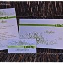 Ornamentes Esküvői szett, Esküvő, Naptár, képeslap, album, Meghívó, ültetőkártya, köszönőajándék, Nászajándék, Papírművészet, Ornamentes mintával esküvői szettet készítettem.  - Ornamentes meghívó:  540 Ft/Db - Hozzá tartozó ..., Meska