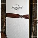 Pöttyös elegancia esküvői meghívó, Esküvő, Naptár, képeslap, album, Meghívó, ültetőkártya, köszönőajándék, Képeslap, levélpapír, Papírművészet, Pöttyös elegancia esküvői meghívó, Meska