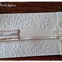 Virágos álom pénzátadó boríték, Esküvő, Naptár, képeslap, album, Nászajándék, Képeslap, levélpapír, Virágos álom pénzátadó boríték, Meska