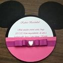 Minnie/ Mickey meghívó Születésnapra, Névnapra, Kersztelőre, Baba-mama-gyerek, Naptár, képeslap, album, Baba-mama kellék, Képeslap, levélpapír, Minnie/ Mickey meghívó Születésnapra, Névnapra, Kersztelőre, Meska