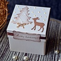 """""""Őzike télen"""" Idézetes karácsonyi doboz, Naptár, képeslap, album, Ajándékkísérő, Képeslap, levélpapír, Idézetes karácsonyi ajándékdobozt készítettem, melynek egy díszes közepet álmodtam meg, ahová apró a..., Meska"""