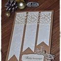 """""""Hópelyhek és csipke"""" Karácsonyi képeslap, Dekoráció, Ünnepi dekoráció, Karácsonyi, adventi apróságok, Ajándékkísérő, képeslap, """"Hópelyhek és csipke"""" Karácsonyi képeslap, Meska"""