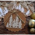 """""""Suttog a fenyves"""" Karácsonyi ajándékkísérő, Dekoráció, Karácsonyi, adventi apróságok, Naptár, képeslap, album, Ünnepi dekoráció, Ajándékkísérő, képeslap, Karácsonyi dekoráció, """"Suttog a fenyves"""" Karácsonyi ajándékkísérő  A feltüntetett ár egy csomagra vonatkozik, mely 6 db-ot..., Meska"""