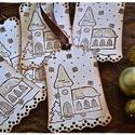"""""""Templom a hóesésben"""" Karácsonyi ajándékkísérő, Karácsonyi, adventi apróságok, Naptár, képeslap, album, Ajándékkísérő, képeslap, Karácsonyi dekoráció, """"Templom a hóesésben"""" Karácsonyi ajándékkísérő  A feltüntetett ár egy csomagra vonatkozik, mely 5 db..., Meska"""