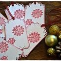"""""""Hópelyhek tánca"""" Karácsonyi ajándékkísérő, Dekoráció, Karácsonyi, adventi apróságok, Ünnepi dekoráció, Ajándékkísérő, képeslap, Karácsonyi dekoráció, Karácsonyfadísz, """"Hópelyhek tánca"""" Karácsonyi ajándékkísérő  A feltüntetett ár egy csomagra vonatkozik, mely 6 db-ot ..., Meska"""