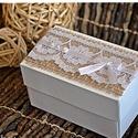 Vintage pénzátadó dobozka/ Köszönetajándék/Ültető/Születésnap/Névnap, Esküvő, Naptár, képeslap, album, Meghívó, ültetőkártya, köszönőajándék, Nászajándék, Esküvőre vagy bármilyen más alkalomra készülők figyelmébe ajánlom a következő saját készítésű  idéze..., Meska