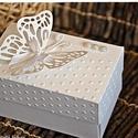 """""""Pillangós"""" pénzátadó dobozka/ Köszönetajándék/Ültető/Születésnap/Névnap leírása, Esküvő, Naptár, képeslap, album, Meghívó, ültetőkártya, köszönőajándék, Nászajándék, Papírművészet, Esküvőre vagy bármilyen más alkalomra készülők figyelmébe ajánlom a következő saját készítésű idéze..., Meska"""