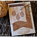 Húsvéti képeslap  #4, Naptár, képeslap, album, Húsvéti díszek, Ajándékkísérő, Képeslap, levélpapír, Húsvéti képeslap  #4, Meska