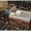 Fa ládika/Gyűrűtartó doboz/Ékszerdoboz/Kincsesláda, Esküvő, Otthon, lakberendezés, Gyűrűpárna, Nászajándék, Fa ládika/Gyűrűtartó doboz/Ékszerdoboz/Kincsesláda, Meska