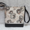 Mirabelle beige táska, Táska, Válltáska, oldaltáska, Varrás, Ez a táska kiváló minőségű textilbőrből és design vászonból készült. Cipzárral záródik. Pamutvászon..., Meska