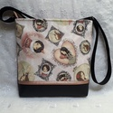 Mirabelle rose táska, Táska, Válltáska, oldaltáska, Varrás, Ez a táska kiváló minőségű textilbőrből és design vászonból készült. Cipzárral záródik. Pamutvászon..., Meska
