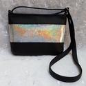 Hologramos Party Bag, Táska, Válltáska, oldaltáska, Varrás, Ez a kis táska fekete textilbőrből készült hologramos díszítéssel. Cipzárral záródik. Bélése pamutv..., Meska