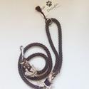 Barna színű pamut kötél póráz , Állatfelszerelések, Kutyafelszerelés,  Barna színű pamut kötél póráz, 121 cm hosszú és 12 mm átmérőjű. Az alapanyagot,vagyis a..., Meska