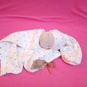 Nyunyó-alvós manó, Baba-mama-gyerek, Gyerekszoba, Baba-és bábkészítés, RENDELHETŐ Szeretgethető, gyűrhető, nyúzható, pici gyerekeknek készített játék manócska. A képen lá..., Meska
