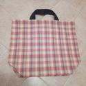 Kockás vászon táska, Táska, Szatyor, 49x49 cm-es kockás vászon táska.  Szeretem a vászon táskákat, többnyire csak ilyet használok..., Meska