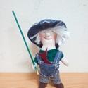 """Horgászó ,,Öregfiú""""  : ), Dekoráció, Férfiaknak, Horgászat, vadászat, Korábban készült mini figurák egyike, melyeket már eladtam, de szívesen készítek rendelésre.  Magass..., Meska"""