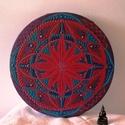 A bölcsesség mandalája, Otthon & Lakás, Dekoráció, Mandala, Festészet, A pillanat megélésére, művészetére tanít ez a mandala.  Átmérője: 20 cm (A szállítási költség bizon..., Meska
