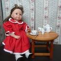 """Tűpöttyös ruhácska játékbabának, Baba-mama-gyerek, Játék, Baba-mama kellék, Baba játék, Varrás,  A ruhácska és 50 cm-es merev és """"puhatestű"""" babákra egyaránt jó. A modell az első képen 50 cm-es a..., Meska"""