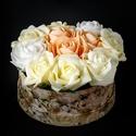 Pasztell rózsák szeretet dobozban, virágbox