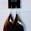 Bőr fülbevaló Geometrik, Ékszer, Fülbevaló, Geometrikus letisztult formavilág  Saját tervezésű bőr fülbevalók    Alapanyag: 2 mm marhabő..., Meska