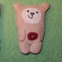 Mini mackó Valentin napra, Ez a maci mindössze 6cm magas. Vidám kis jószá...