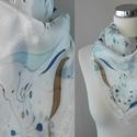 Kézzel festett selyemkendő, Ruha, divat, cipő, Kendő, sál, sapka, kesztyű, Kendő, Sál, 55 × 55 cm 100% selyem kézzel mosható, Meska