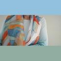 Kézzel festett selyemkendő, Ruha, divat, cipő, Kendő, sál, sapka, kesztyű, Kendő, Sál, 90 × 90 cm 100% selyem kézzel mosható, Meska