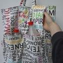 Bevásárlótáska- hátizsákká alakítható, Táska, Hátizsák, Szatyor, Mintás bevásárló táska  amit hátizsákként is használhatunk .A tetején cipzárral záródik az oldalán k..., Meska