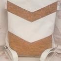 Parafa csíkos hátizsák és oldaltáska, Táska, Hátizsák, Válltáska, oldaltáska,  Akció!  Parafa csíkok rávarrásával készült ez a hátizsákként és oldaltáskaként is használható táska..., Meska