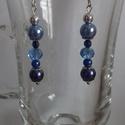"""""""Csupakék"""" fülbevaló, Ékszer, Fülbevaló, Különböző kék színű gyöngyökből készült könnyű kis fülbevaló., Meska"""