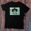 Mexikói motívumok, férfi, egyedi grafikával készült póló