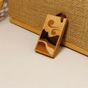 Intarziás kulcstartó - tájkép, Táska & Tok, Kulcstartó & Táskadísz, Famegmunkálás, Egyedi, kézzel készített, intarziás fa kulcstartó gyapjúfonal akasztóval. Minden minta egyesével sz..., Meska