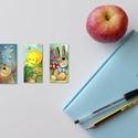 könyvjelző, Képzőművészet, Naptár, képeslap, album, Illusztráció, Könyvjelző, Fotó, grafika, rajz, illusztráció, Élénk színű akvarell könyvjelzők. 8x14cm 1csomagban 3 db -Más mintával is elkészítem, ha szükséges!, Meska